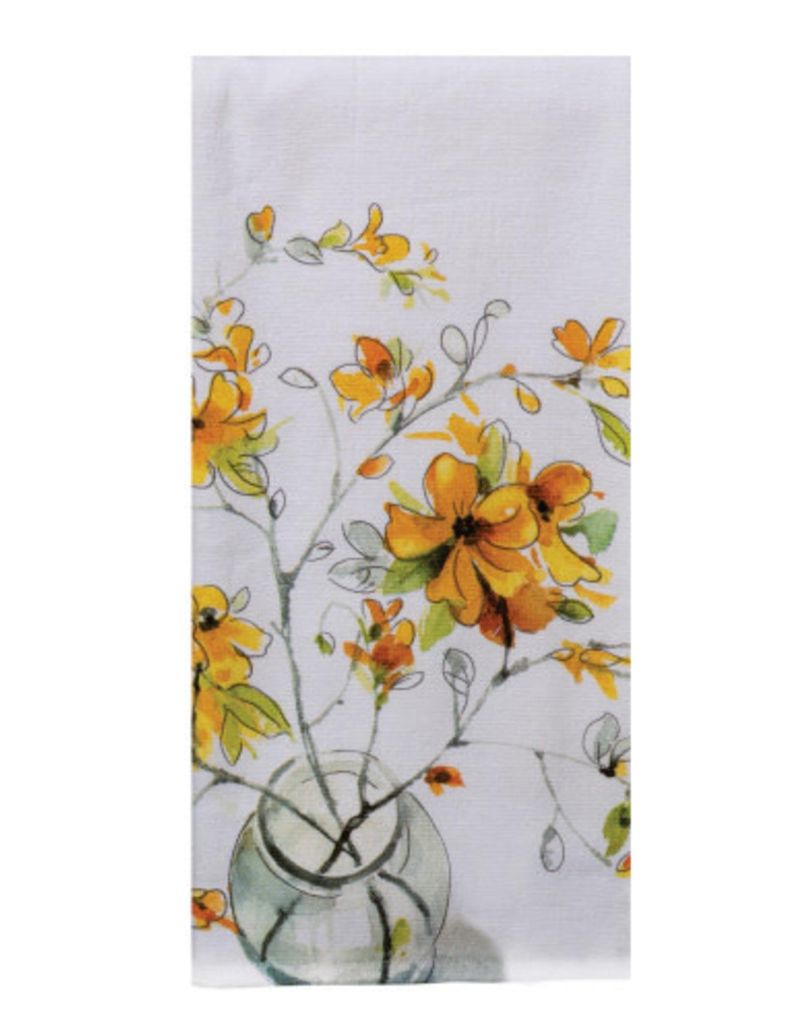 Yellow  FORSYTHIA Dual Purpose Towel