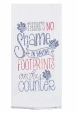 Footprints On The Counter Tea Towel