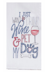 Drink Wine and Pet Dog