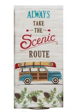 Always Take The Scenic Route Dual Purpose Tea Towel