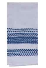 White and Blue Dual Purpose Terry Tea Towel