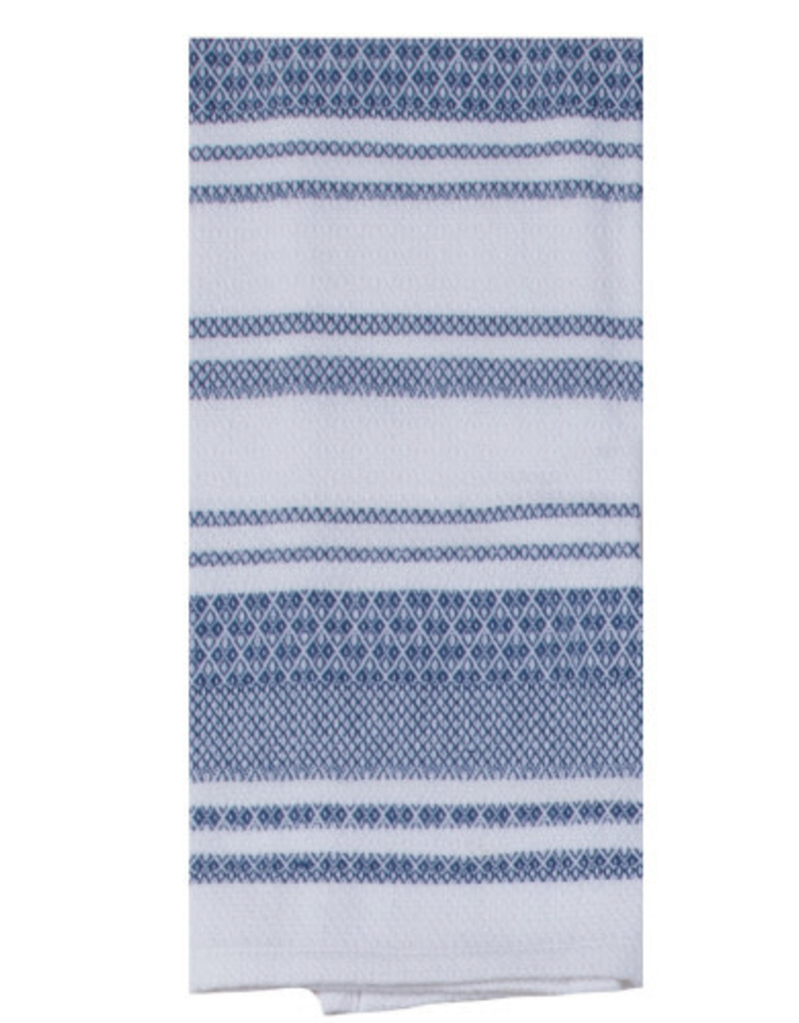 Blue and White Stripe Tea Towel