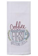 Coffee First Tea Towel
