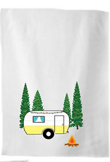 Koppers Camping Tea Towel with Campfire