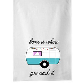 Koppers Home Is Where You Park it Tea Towel