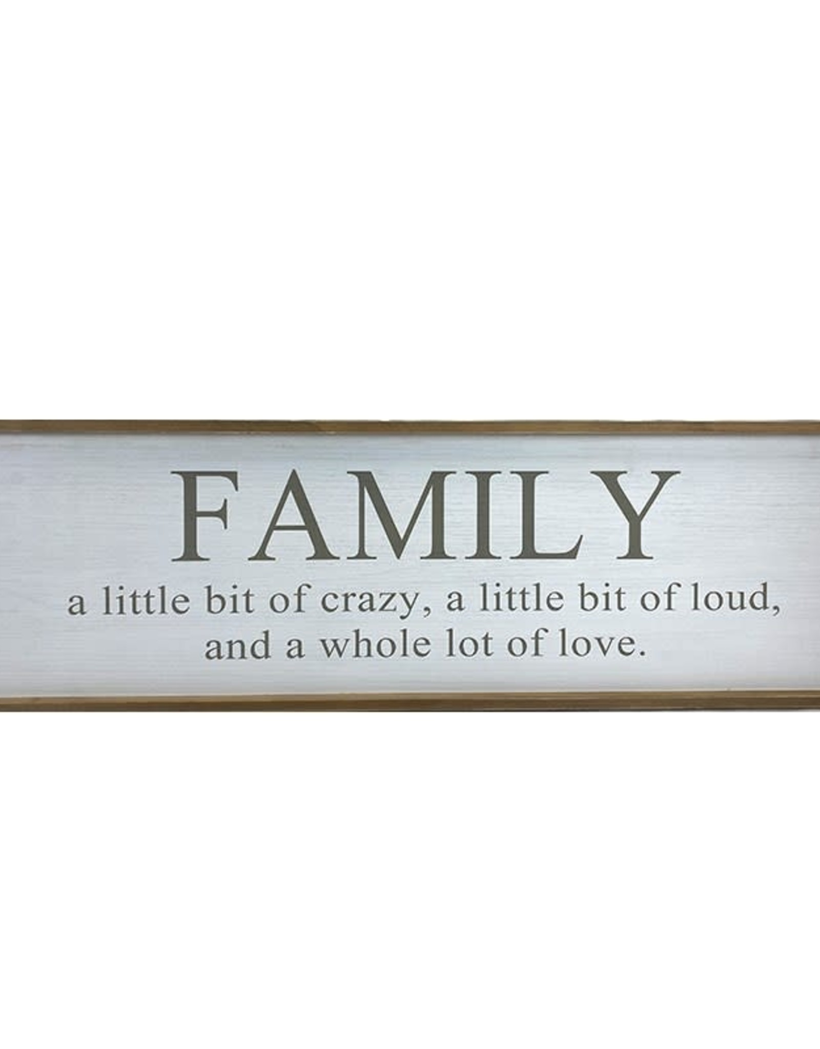 Koppers Family Sign Crazy, Love 120 x 35 x 2.8 cm