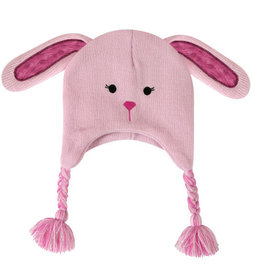Creative Brands Pink Bunny Knit Hat