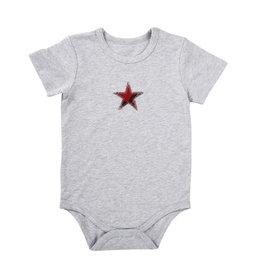 Creative Brands Grey Snapshirt Red Plaid Star 6-12 month