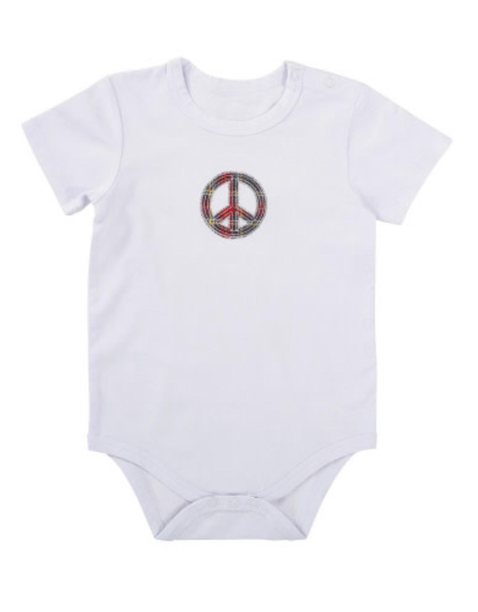 Creative Brands Snapshirt White Plaid Peace