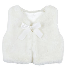 Creative Brands White Fur Vest 6 -18 month