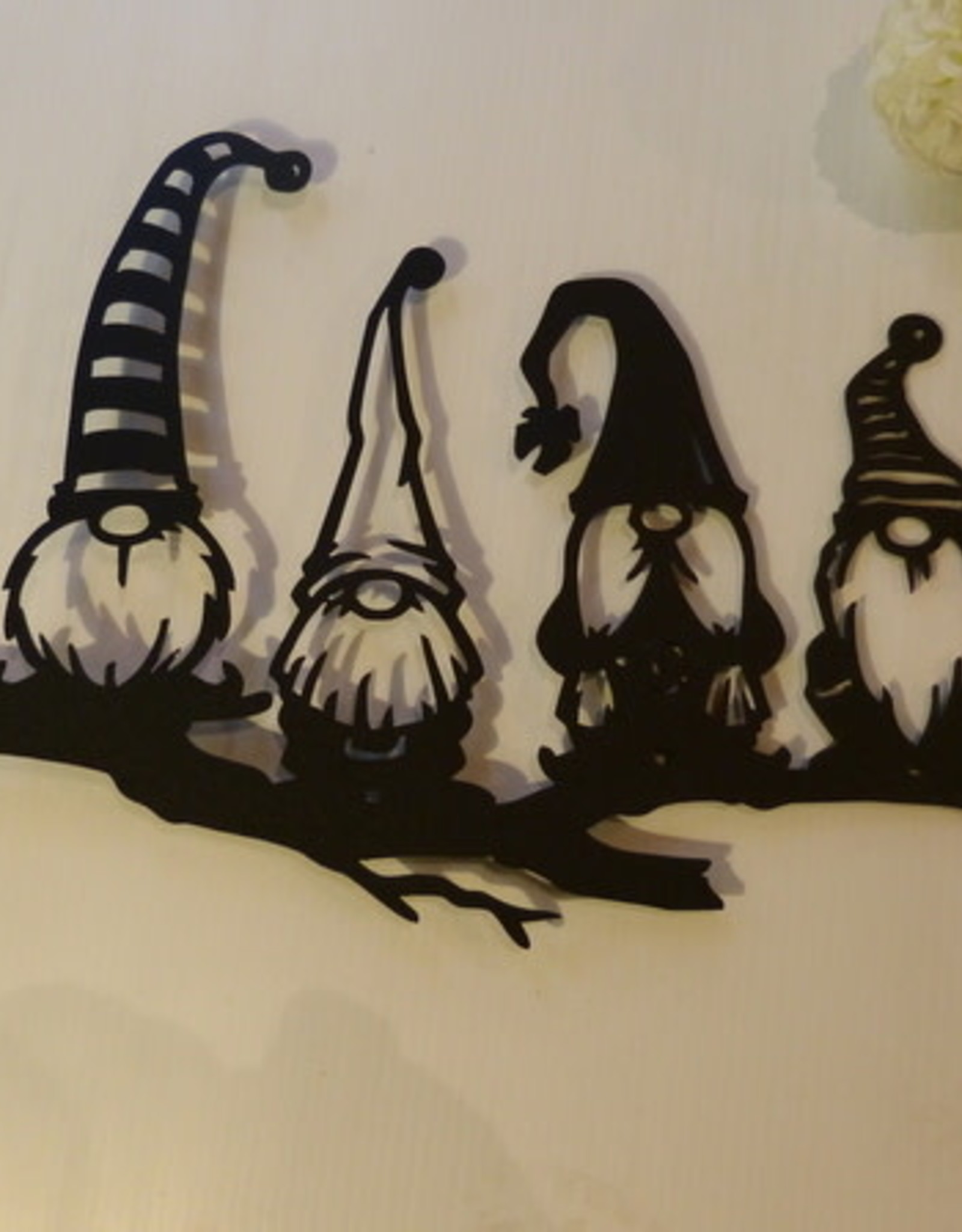 Murals In Metal Gnomes On Branch