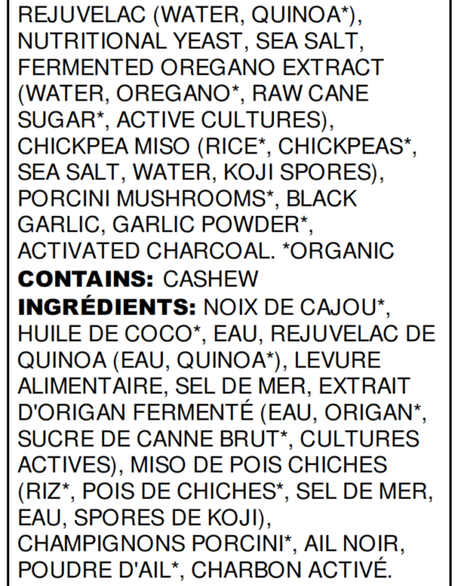 Nuts For Cheese Black Garlic Cashew Vegan Cheese