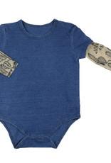 Creative Brands Tattoo Long Sleeve Snap Shirt 6-12 Mth
