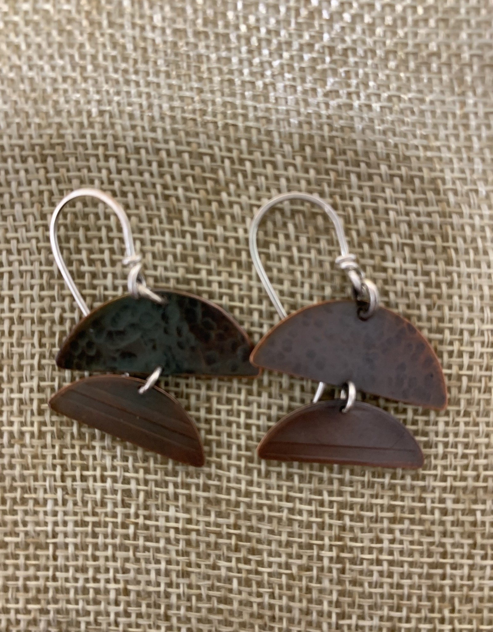 Shoreline Jewelry Textured Copper & Sterling Silver