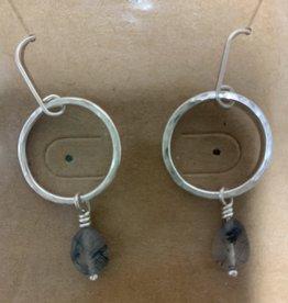 Shoreline Jewelry Sterling Silver & Rutilated Quartz Earrings