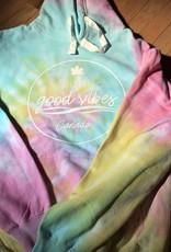 Jailbird Good Vibes Lions Head Tie Dye Sweatshirt Hoodie
