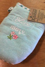 Live Simply Embroidered Oven Grabber Mitt
