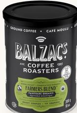 Balzac's Coffee Balzac's Farmers Blend Fair Trade Organic Ground 10 oz Tin