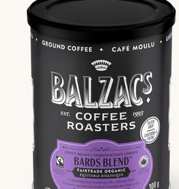 Balzac's Coffee Bard's Blend Fair Trade Organic Coffee 10 oz tin