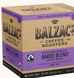 Balzac's Coffee Balzac's Bard's  Blend Convential Compostable Pods 16 pods/