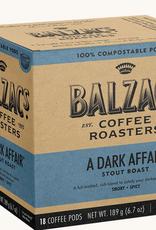 Balzac's Coffee Balzac's A Dark Affair Compostable Po's 16/Box