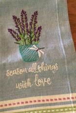 Herb garden Embroidered Tea Towel