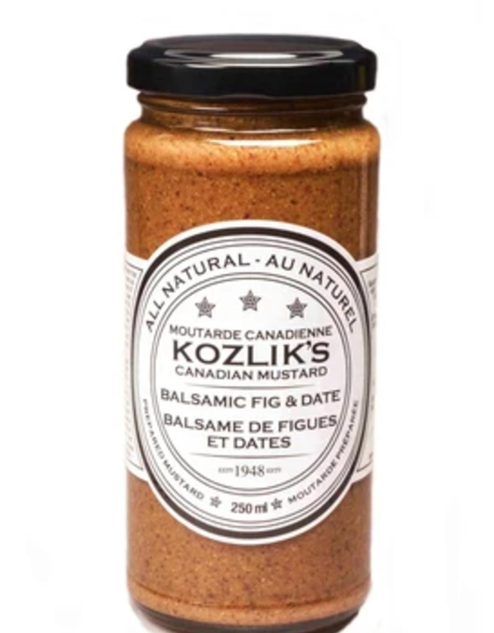 Kozlik's Balsamic Fig & Dates Mustard