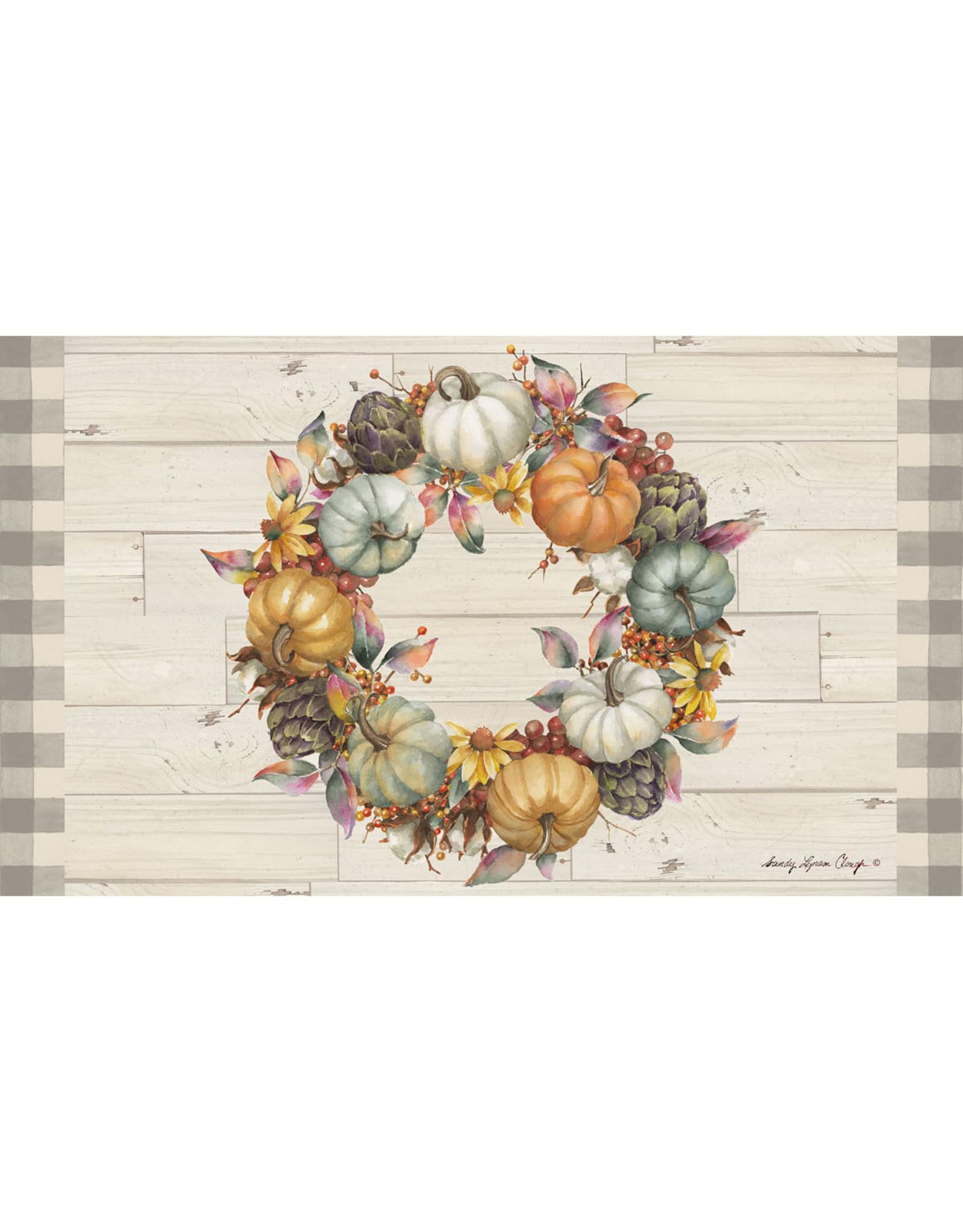 Pumpkin Time Wreath Mat Insert