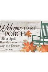 Fall Porch Rules Welcome Sassafras Switch Mat