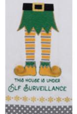 Elf Surveillance Tea Towel