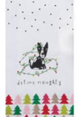 All Glitters Naughty Dog Tea Towel
