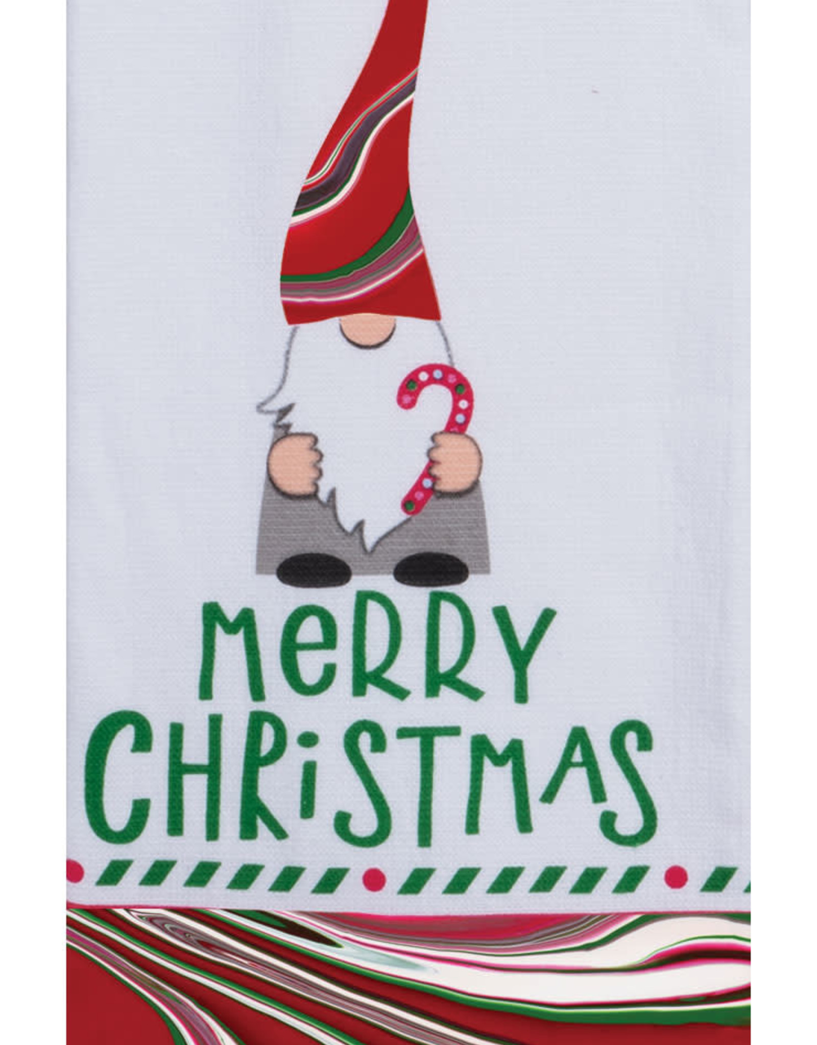 Christmas Tranquility Merry Gnome Dual Purpose Terry Towel