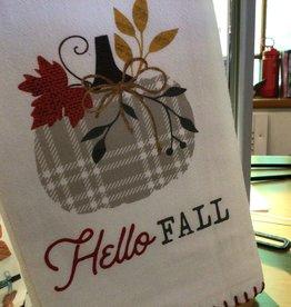 Hello  Fall Kringle Flour Sack Teatowel
