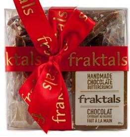 Fraktals Small Clear Box Belgian Milk Chocolate 225g