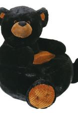 Creative Brands Plush Black Bear Chair