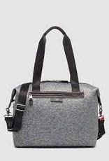 Stevie Luxe Diaper Bag - Grey Scuba
