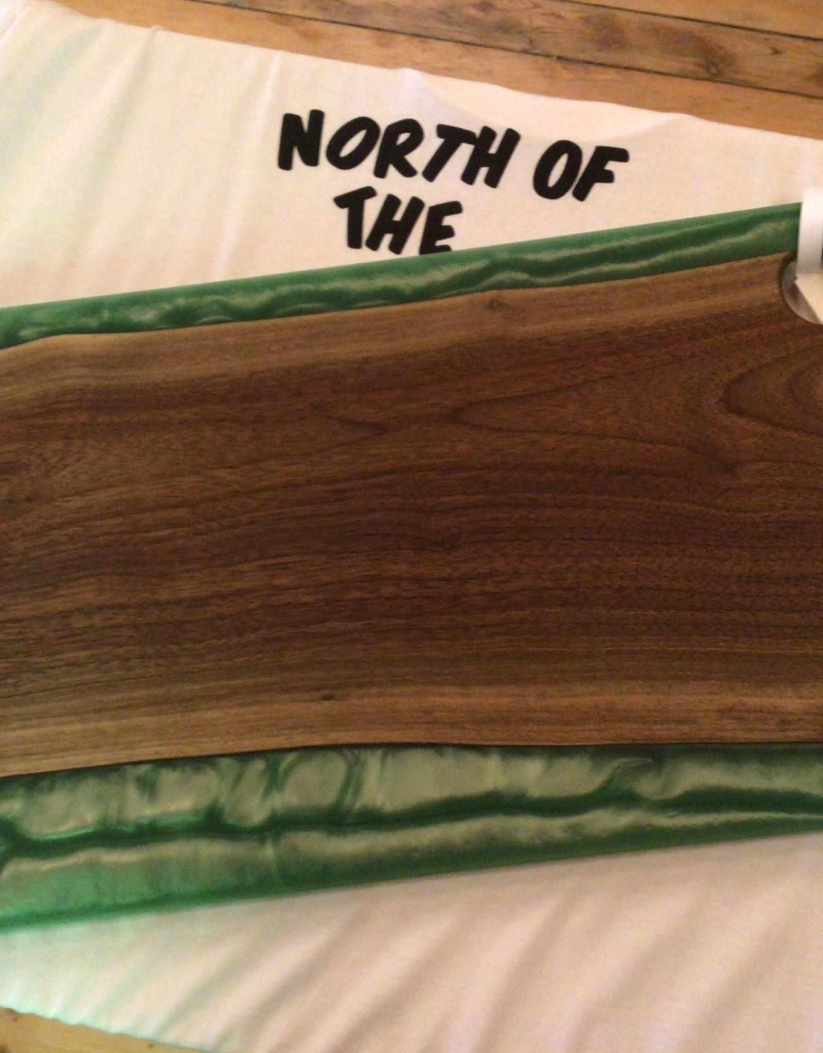 Gerry's Woodworking Walnut Charcuterie Board - Green Resin