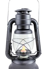 """Koppers Silver Lantern w/ Moving Flame approx 11"""""""
