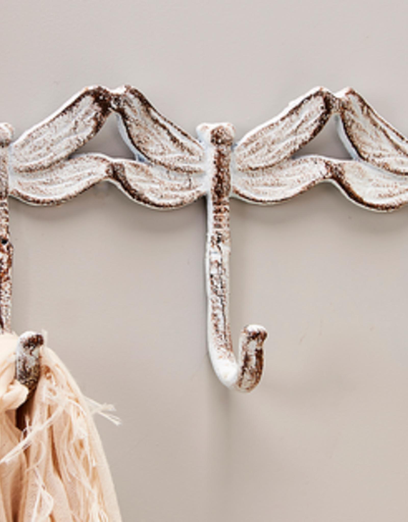 Dragonfly Design Wall Decor w/3 Hooks