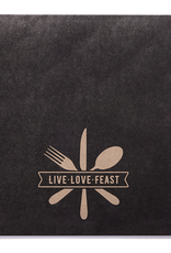 Be Our Guest Paper Placemats, Live, Love, Feast, Pkg of 25