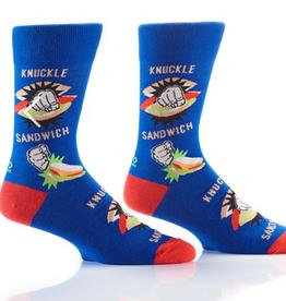 Yo Sox Knuckle Sandwich Design, Men's Crew Sock Fits Men's Shoe Size 7-12