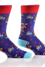 Yo Sox Canadiana Design, Men's Crew Sock Size 7-12