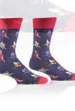 Yo Sox Hockey Time Design, Men's Crew Sock