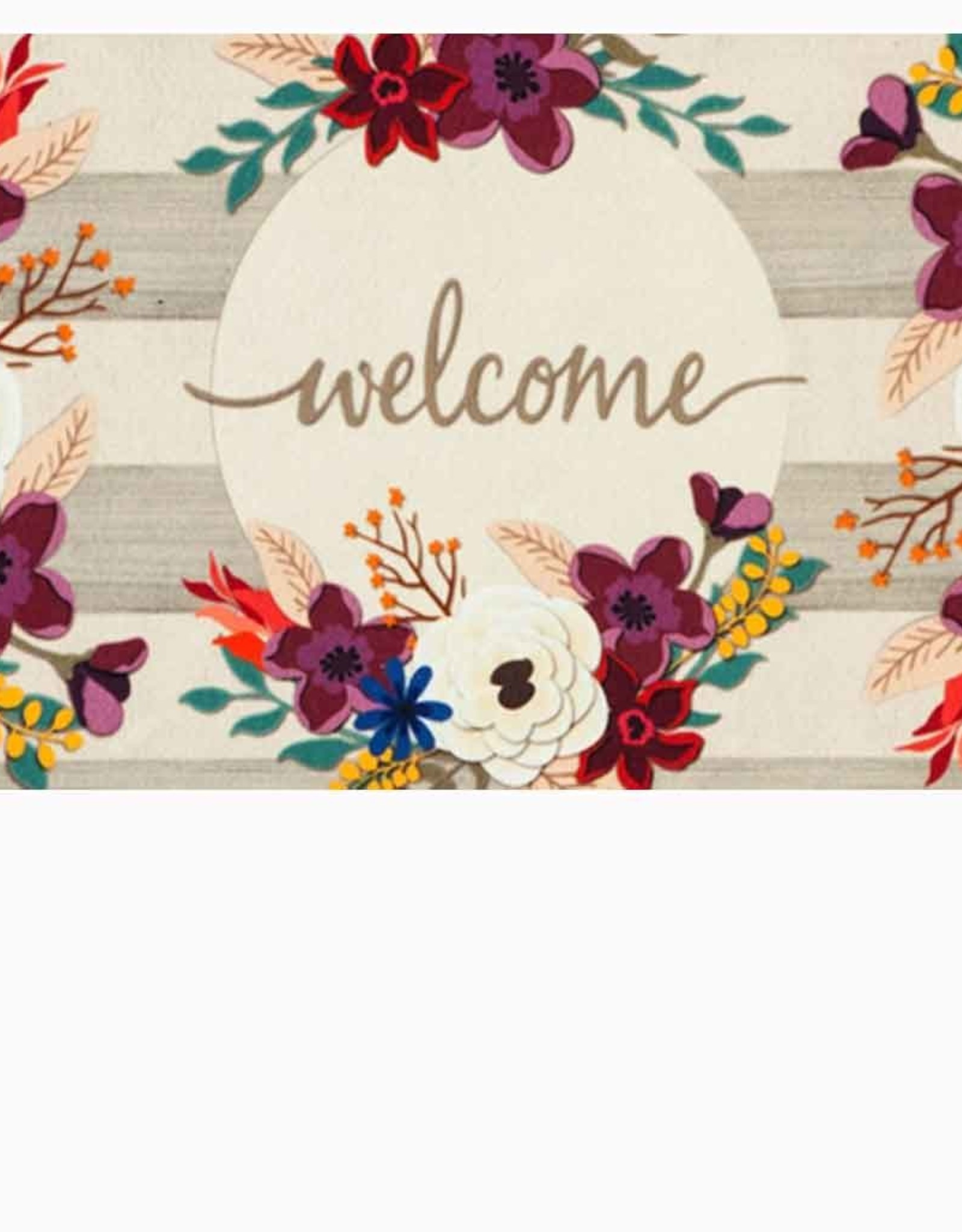 Fall Stripes Welcome Mat
