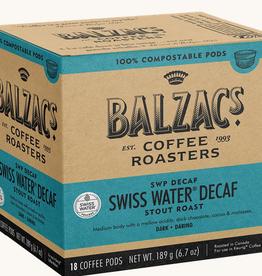 Balzac's Coffee Balzac's Swiss Water Decaf - 18 100% Compostable Pods