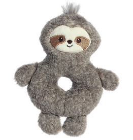 """Ebba ebba - Fabbies - 6"""" Wynny Sloth Ring Rattle"""