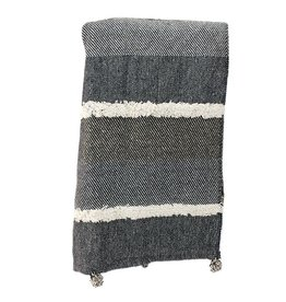 Koppers Grey Tufted Throw