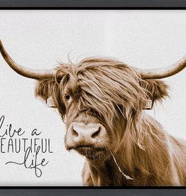 P Graham Live a Beautiful Life Framed Canvas