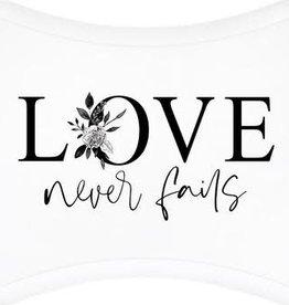 P Graham Love Never Fails Plaque