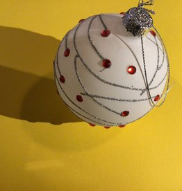 Christmas Traditions White & Red Winterberry Ornament